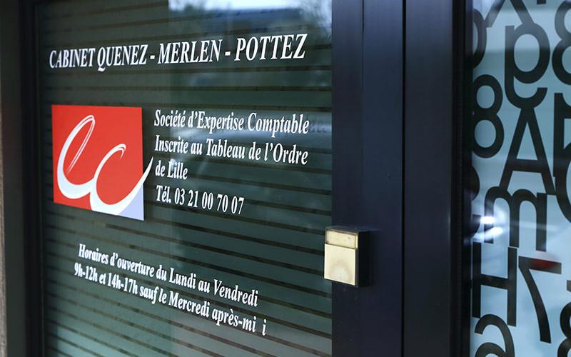 Éntrée cabinet Quenez - merlen - pottez
